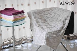 Knitted Chelline Baby Throw Blanket / Plaid (ATW169)