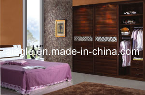 Bedroom Furniture Set Clothes Wardrobe with Shutter Carved Waist Door (D BY-C07+TH02)