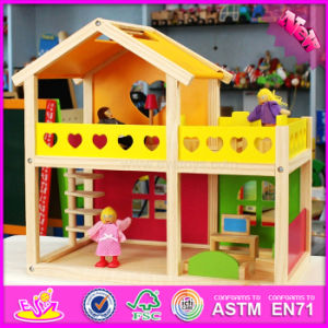 2016 Wholesale Kid Wooden Doll House Family, Cheap Baby Wooden Doll House Family, Children Wooden Doll House Family W06A157 pictures & photos