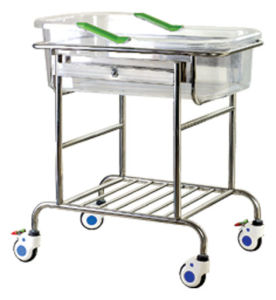 Stainless Steel Infant Bed with Trolleys pictures & photos