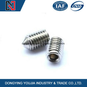 DIN914 Hexagon Socket Set Screw Swith Cone Point pictures & photos