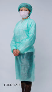 Disposable Non-Woven Isolation Gown pictures & photos