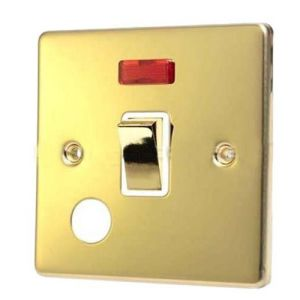 British Standard 20AMP Double Pole Switch with Neon (Water Heater) pictures & photos