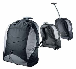 Nylon School Trolley Backpack Bag with Padded Laptop Compartment (MS1009) pictures & photos