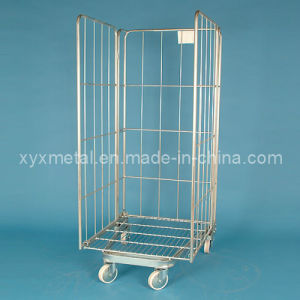 Folding Shopping Roll Trolly Hand Cart Roll Container pictures & photos