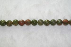 Unakite Gemstone Round Beads (SFR1015)