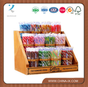 Counter Top Wooden Candy Display Rack for Market pictures & photos