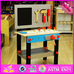 2016 Wholesale Kids Wooden Tool Table, New Design Baby Wooden Tool Table, Cheap Children Wooden Tool Table W03D070 pictures & photos