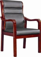 Office Furniture-Wooden PU Leather Office Chair with Armrest (BS-202) pictures & photos