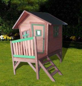 Children′s Wooden Playhouse Popular Outdoor Playground Toy