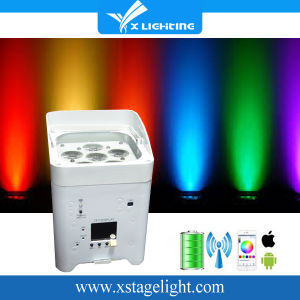 RGBWA+UV DMX Battery Powered LED PAR 6in1-18watt LED Christmas Party Uplight pictures & photos