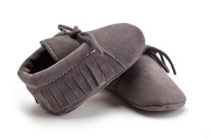 Wholesale Soft Soles Lace-UPS Shoes Indoor Kids Shoes pictures & photos