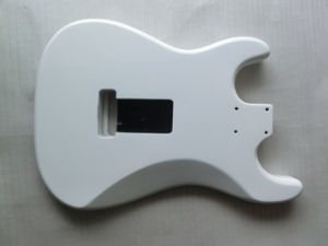 Alder Nitro Satin Finished White Strat SSS Guitar Body pictures & photos