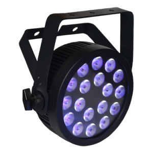 18X12W RGBWA UV Slim LED PAR Stage Light with Powercon and Ce Certification pictures & photos