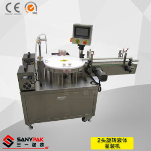 Factory Low Price 2 Head Liquid Rotary Filling Machine pictures & photos