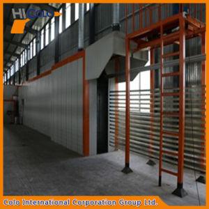 Horizontal Aluminum Profile Manual Powder Coating Line pictures & photos