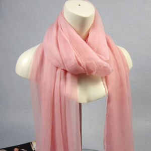 100% Pure Silk Georgette Long Scarf for Women in Autumn pictures & photos