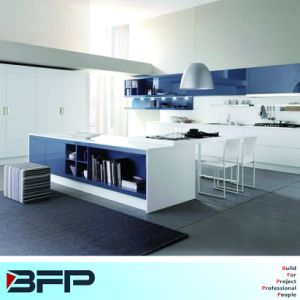 Bright Color High Gloss Kitchen Cabinets With Pantry Pocket Door And Inner Drawer For Dining Room Cabinet