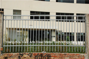 Haohan Customized Simple Classic Industrial Residential Galvanized Steel Fence 64 pictures & photos