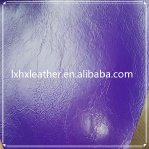 Oily Synthetic PU Leather for Shoes Hx-S1760 pictures & photos
