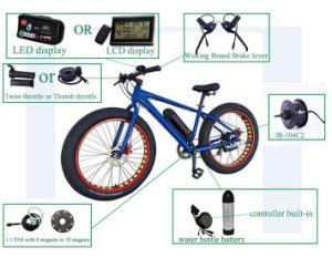 Jb-104c2 Fat Tyre 48V 750W Electric Bike Rear Hub Motor Conversion Kit pictures & photos