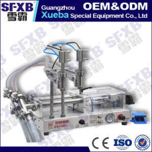 Sfgy-120-2 Full Pneumatic Double Head Semi Automatic Liquid Filling Machine pictures & photos