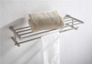 Modern Design Bathroom Accessories Stainless Steel Double Towel Rack (2112) pictures & photos