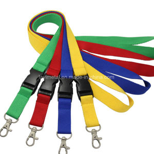 Cheap Custom Printing Strap Fashion Woven Lanyard with Buckle pictures & photos