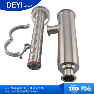 Side Entry (Angle type) Sanitary Stainless Steel Strainer Clamp Connections pictures & photos
