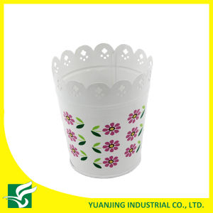 White Home Garden Metal Carved Flower Pot pictures & photos
