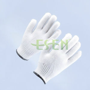 8/10 Gauge White Knitted Cotton Gloves Manufacturer in China/Labor Insurance Gloves (K10-B1-16) pictures & photos