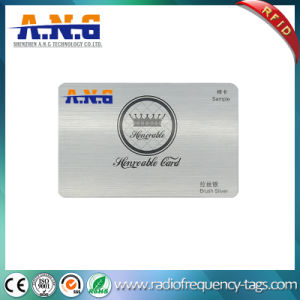 Brush Silver PVC Card / Luxury Business Card / VIP Card pictures & photos