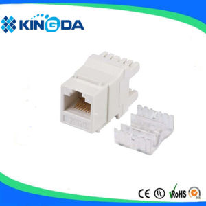 Dual IDC type UTP CAT6 keystone jack pictures & photos