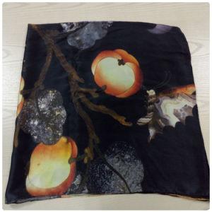 Pumpkin Design Digital Printed Pure Silk Scarves