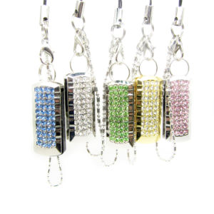 Super Mini Jewelry Crystal Diamond Keychain USB Flash Pen Drive pictures & photos