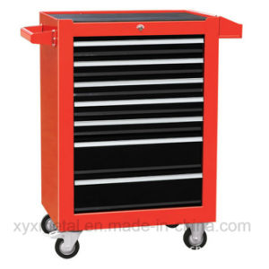 7 Drawers Doors Garage Workbench Metal Tools Cabinet with Wheels pictures & photos