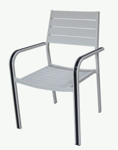New Fashion Modern European Patio Outdoor Aluminum Restaurant Chairs with White Colors pictures & photos