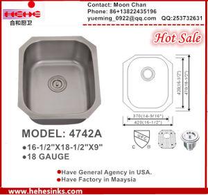 Single Sink, Bar Sink 4742A (1816) , Undermount Kitchen Sink pictures & photos