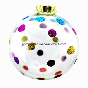 Hot Sale Transparent Glass Ball with Customized Design, with Christmas Scene