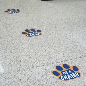 China Custom Die Cut Vinyl Floor Graphics UV Protection Vinyl - Custom die cut vinyl stickers how to apply