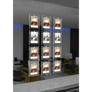 Wire Hanging LED Light Box for Estate Agent Window Displays pictures & photos