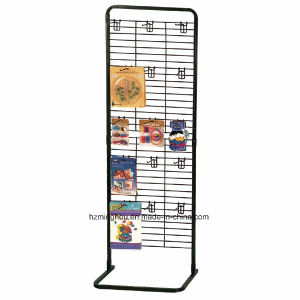 Freestanding Gridwall Store Fixture Metal Wire Display Rack pictures & photos
