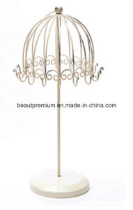 High Quality Crystal Pedestal Metal Necklace Umbrella Stand Holder Jewelry Display BPS0128 pictures & photos