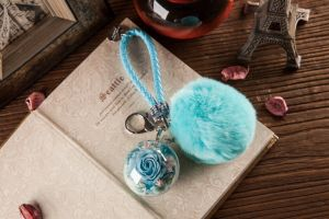 Ivenran Preserved Fresh Flower Ball Keychain for Present and Decoration pictures & photos
