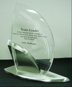 Customize Ad-210 Clear Laser Engraved Acrylic Hot Press Trophy Plaque pictures & photos