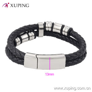 Fashion Cool Stainless Steel Jewelry Leather Bangle for Men pictures & photos