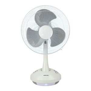 Portable 12V China Solar Fan with LED Light Battery Operate pictures & photos