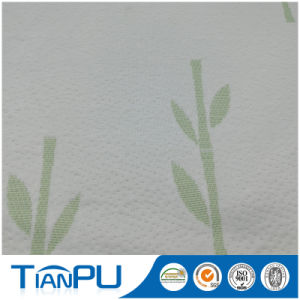 Bamboo Customized Logo Jacquard Mattress Ticking Fabric for Foam Mattress Surface pictures & photos