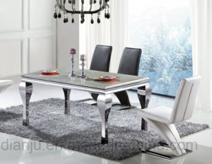 Square Modern Stainless Steel Dining Table (A8016) pictures & photos