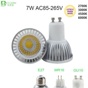 7W GU10 COB Dimmable LED Spotlight pictures & photos